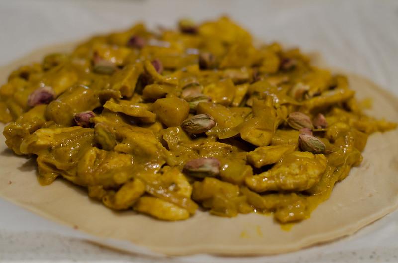 Empanada de pollo con manzana y curry