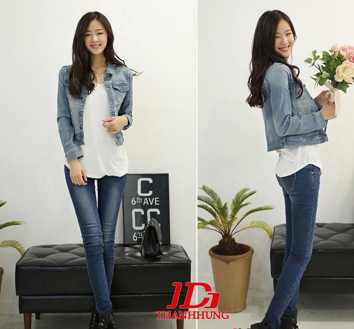 Áo khoác jeans/bò/denim nữ đẹp! Cách phối áo khoác jean 6