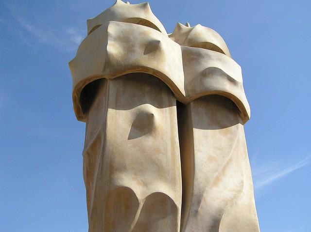 Barcelona gaudiu0301 chimeneas de la pedrera by - Chimeneas barcelona ...