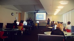 Sonia Chaidez introduces Mary Garside for her Photoshop Basics workshop.