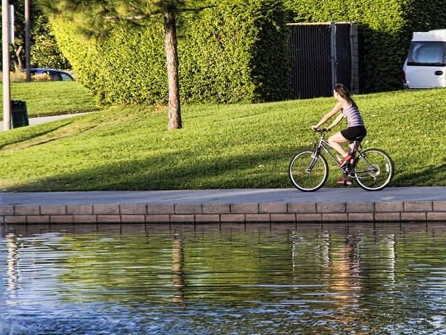 Bike rider at Wilderness Park