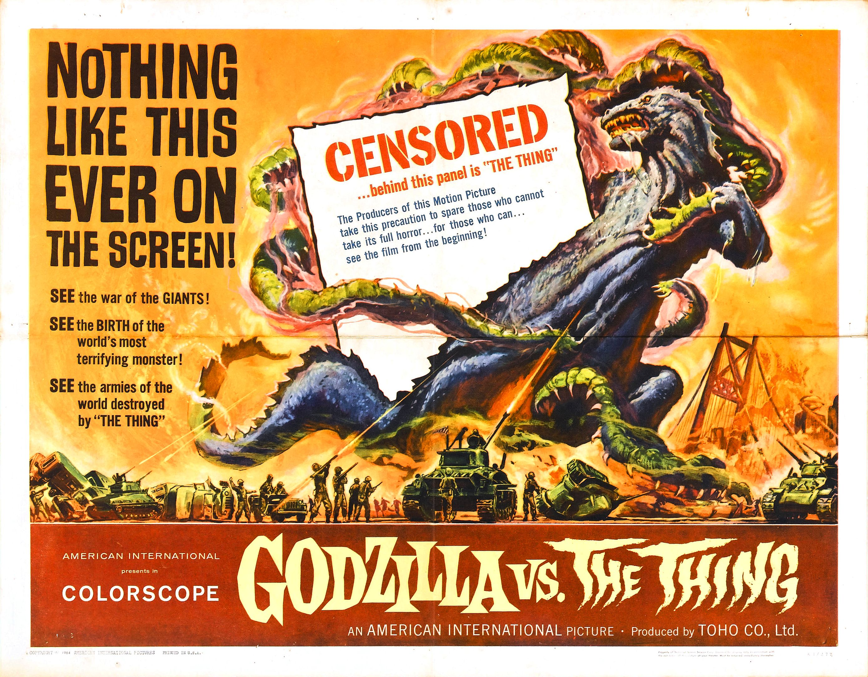 Godzilla vs. the Thing (1964)