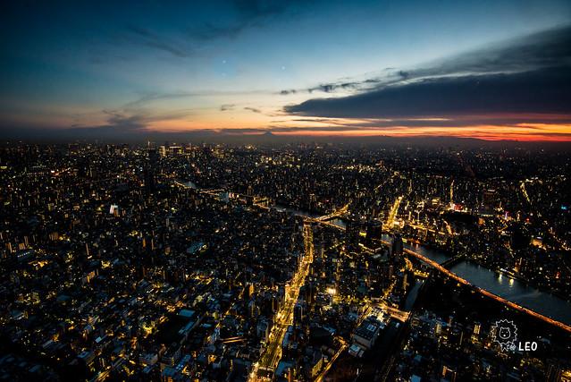 [東京 押上]–skytree 350M的世界–晴空塔夜景