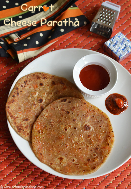 Carrot Cheese Paratha Recipe