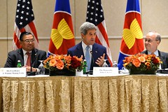 U.S. Secretary of State John Kerry participates in the U.S.-ASEAN Ministerial Meeting on the margins of the 69th session of the United Nations General Assembly in New York City on September 26, 2014. [State Department photo/ Public Domain]