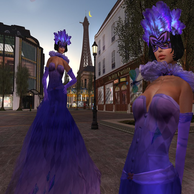 Paris METRO Couture_ Masquarde Gown Purple