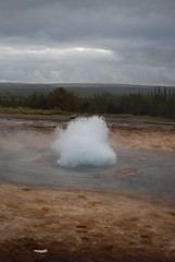 cloud, water, nature, body of water, geyser, wave, morning, spring,