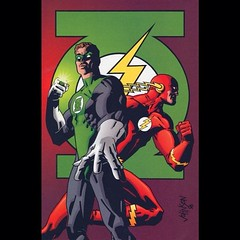 Green Lantern and The Flash by Dave Johnson. #Comics