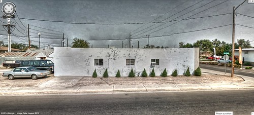 white building green trek google colorado 10 ten co bushes hdr streetview panamerican greeley photomatix gsv googlestreetview 10bushes