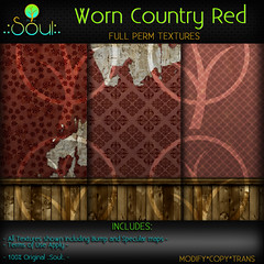 2014 Worn Country Red Textures 2