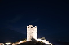 Drakano fortress by night with lights