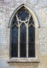 14th C. chancel east window, the Church of St Andrew, Rippingale, Lincolnshire, England