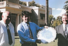 Gov. George Gawler silver salver purchased by Peter Whimpress, Craig Barnet, and John Thorpe