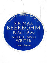 Photo of Max Beerbohm blue plaque