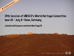 #39whcbonn is the hashtag for the 39th Session of UNESCO's World Heritage Committee #UNESCO @UNESCO