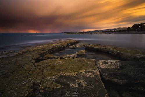 longexposure sunset clouds rocks seascape skyscape storm water sky sea cyprus sony sonya6000 ilce6000 samyang samyang12mmf20ncscs haidafilter manfrottobefree