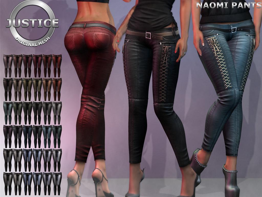 JUSTICE NAOMI PANTS FATPACK PIC - SecondLifeHub.com