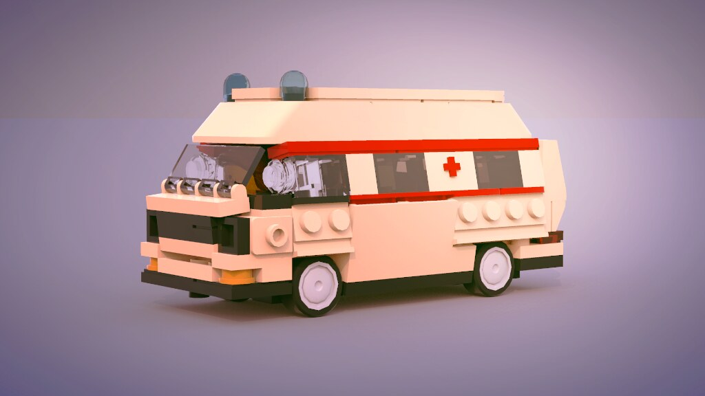 T3 German Ambulance (custom built Lego model)