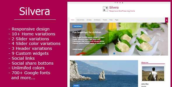 Silvera WordPress Theme free download
