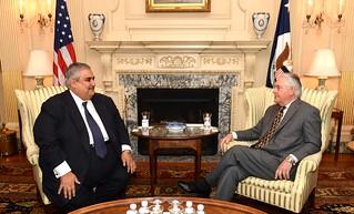 Secretary Tillerson Meets With Bahrain Foreign Minister Khalid bin Ahmed Al Khalifa in Washington
