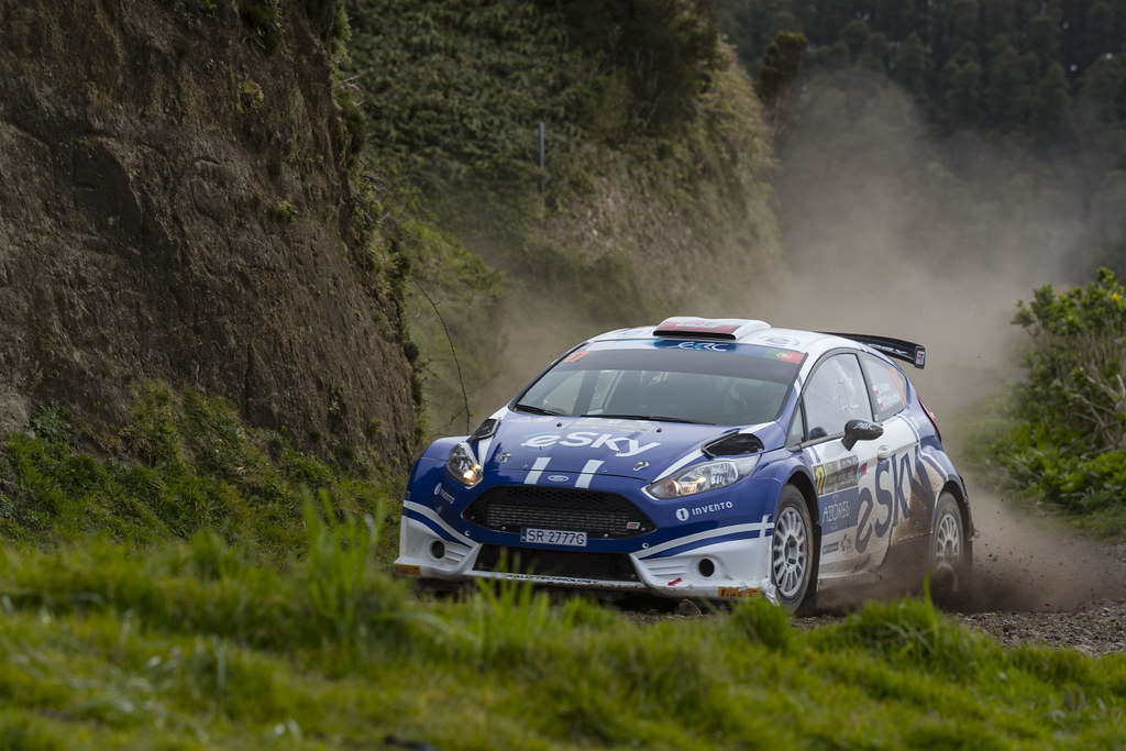 17 HABAJ Lukasz DYMURSKY Daniel Ford Fiesta R5 Action during the 2017 European Rally Championship ERC Azores rally,  from March 30  to April 1, at Ponta Delgada Portugal - Photo Gregory Lenormand / DPPI