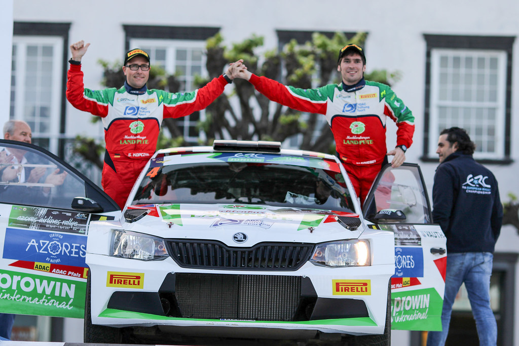 04 GRIEBELMarijan KOPCZYK Stefan Skoda Fabia R5 Ambiance Portrait during the 2017 European Rally Championship ERC Azores rally,  from March 30  to April 1, at Ponta Delgada Portugal - Photo Jorge Cunha / DPPI