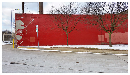 pittsburgh urbanlandscape wall red