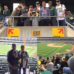 Great day at the park for my brother's birthday! #atthecoliseum #oaklandathletics #mlb #42 #jackierobinson