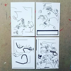 Quadriptych for Leon @leon_sadler. 2017. ________________________________ #drawing #illustration #jonvaughn