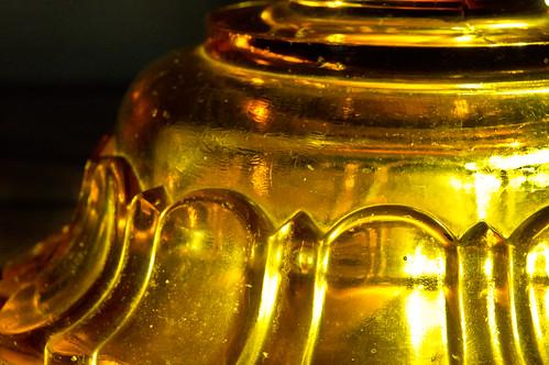 glass amber backlit oillamp macromondays