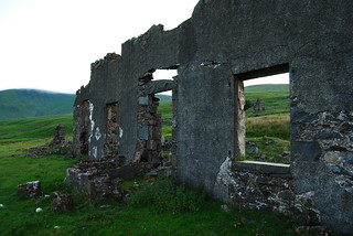 The Old School House at the long abandoned Woodhead lead mines, Carsphairn, Stewartry of Kirkcudbright.