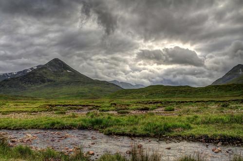 mountain landscape scotland munro mamores glennevis
