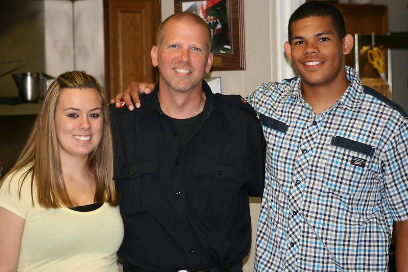 Autumn, Captain Somerville & Brandon at Co-op Graduation