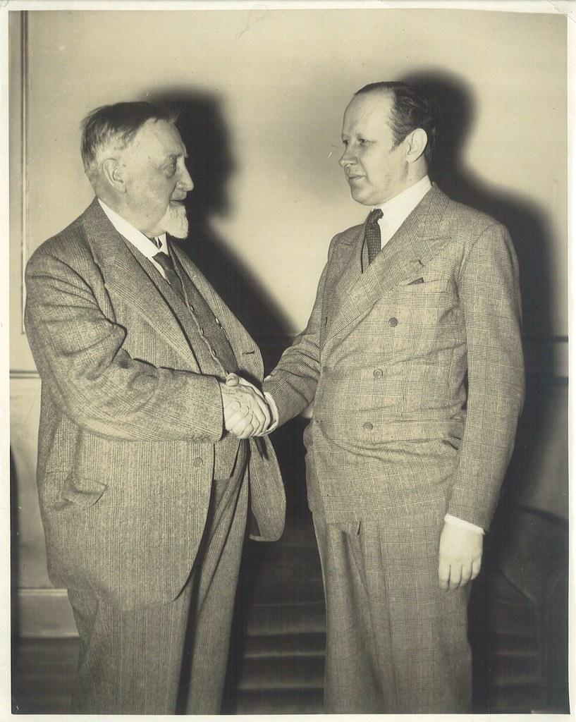 Granville Bantock with Eugene Goossens