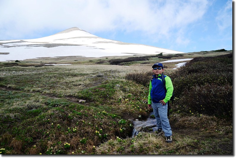 The wetland below James false summit