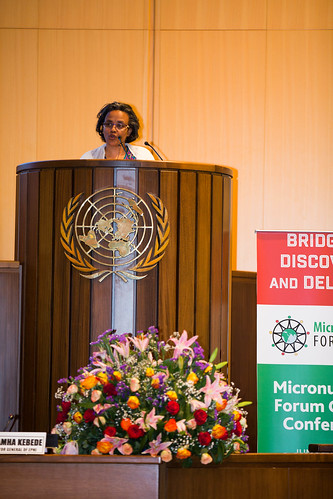 Honorable Madam Roman Tesfaye,  First Lady of the  Federal Democratic  Republic of Ethiopia, welcomes participants of the Micronutrient Forum