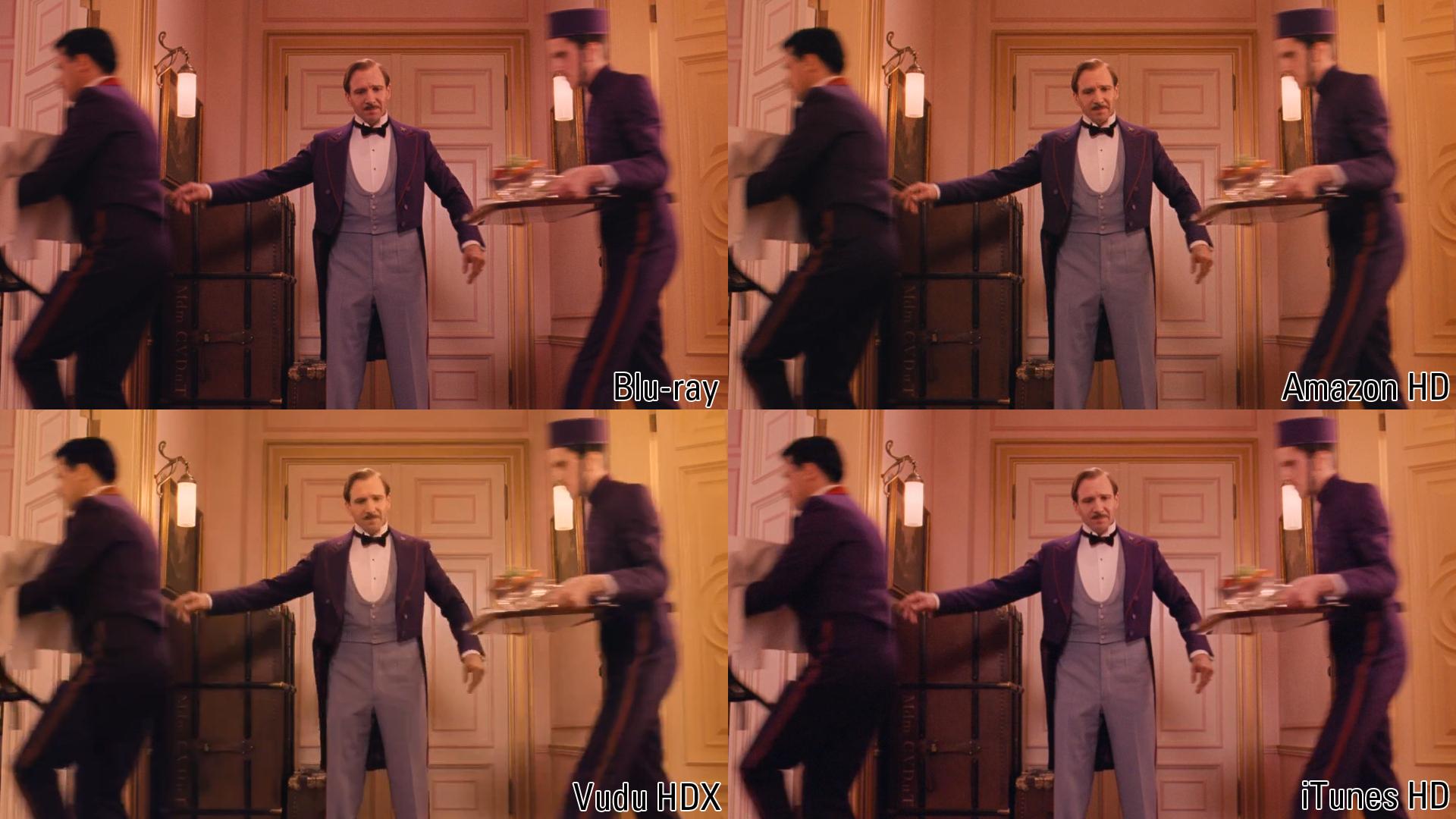 The Grand Budapest Hotel: Blu-ray vs  Vudu vs  iTunes vs  Amazon