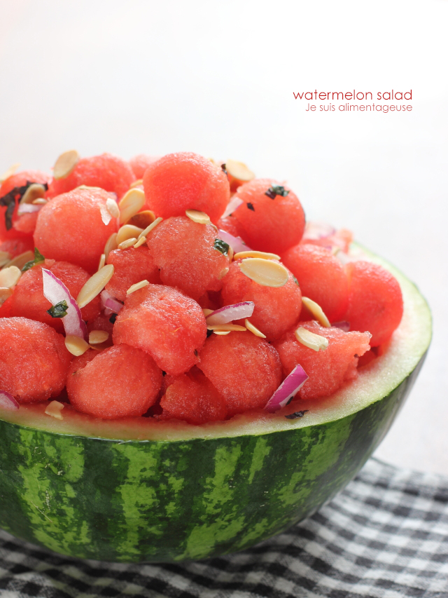 Watermelon Salad | Je suis alimentageuse
