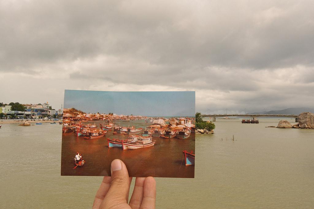 Biển Nha Trang xưa & nay, huớng nhìn từ cầu Xóm Bóng