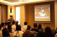 Cmdr. Steven Romero hosts a rheumatic heart disease symposium in Tacloban as part of Pacific Partnership. (U.S. Navy/MC2 Karolina A. Oseguera)