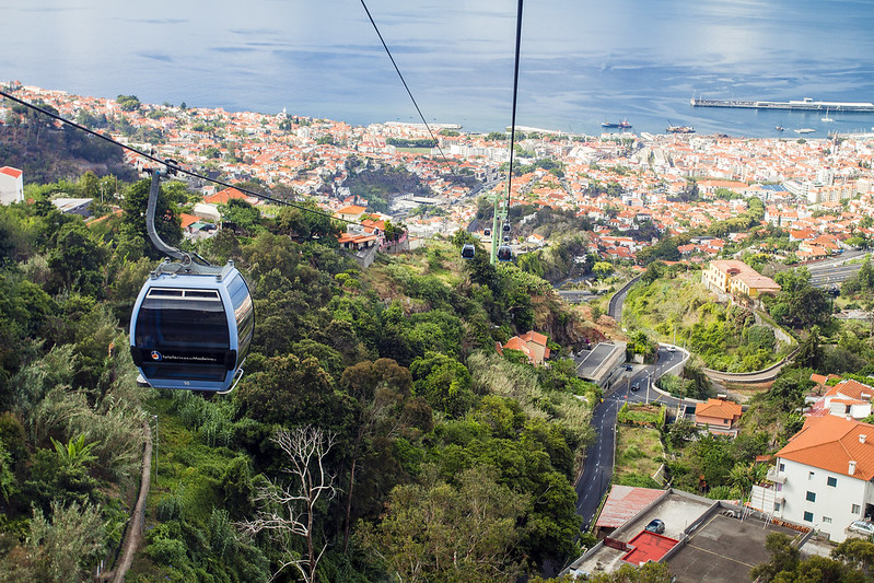Cable car in Funchal, Madeira