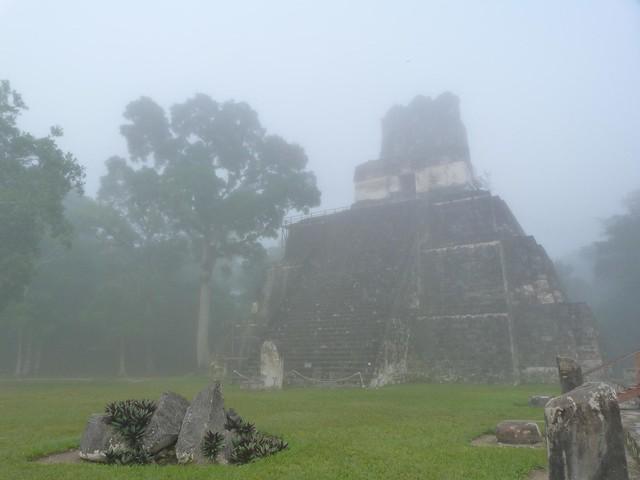 Manto de niebla sobre Tikal (Guatemala)