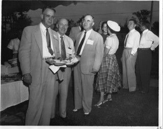 Dollinger Steel Fiftieth Anniversary Guests at Dining Station (AC604-1A-016-035)