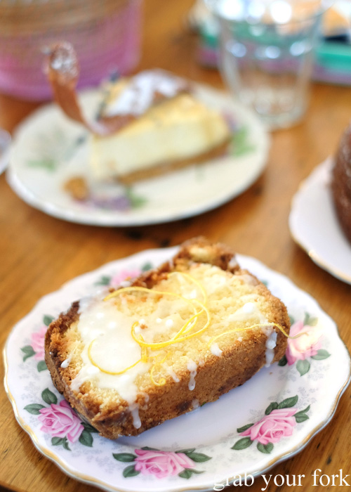 Lemon drizzle cake at The Pig and Pastry, Petersham