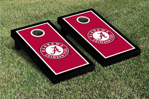 Alabama Crimson Tide Cornhole Game Set Border