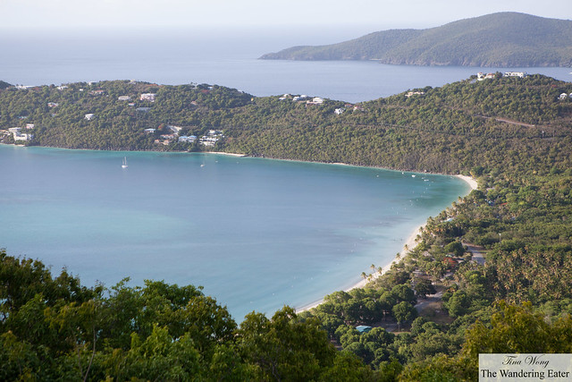 Margens Beach, viewed from Drake's Seat at St. Thomas, USVI