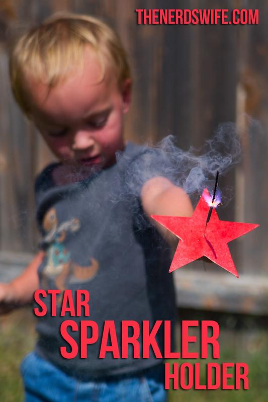 DIY Star Sparkler Holder