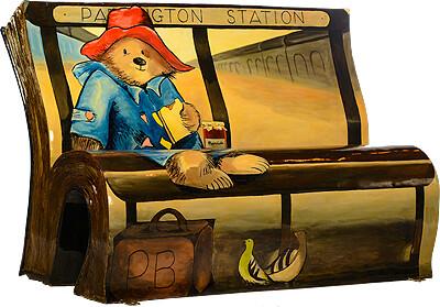 paddington bear book bench