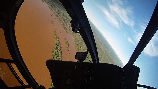 Alucinando en el helicóptero de Iguazú