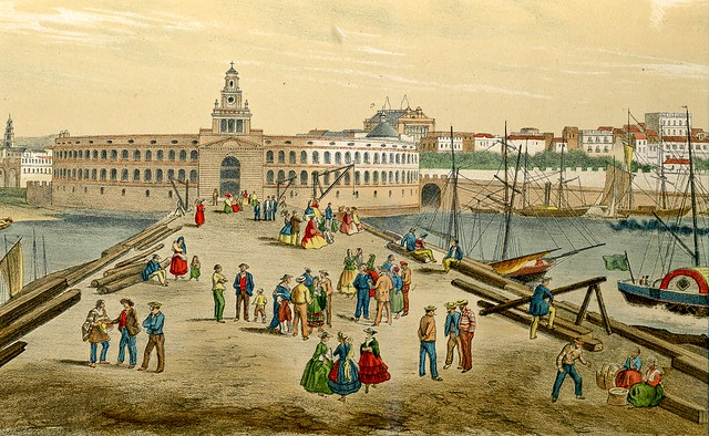 Louis Le Breton - Vista de Buenos Aires (c.1860)